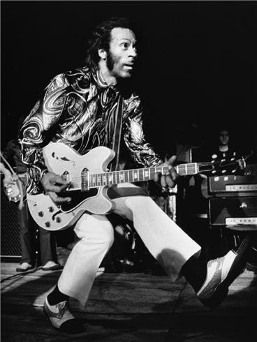 Chuck Berry, England, copyright Barrie Wentzell