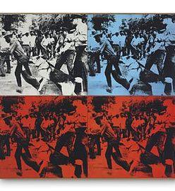Andy Warhol, Race Riot, 1964, acrylic and silkscreen, Gagosian Gallery