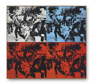 Andy Warhol, Race Riot, 1964, acrylic and silkscreen, Gagosian Gallery