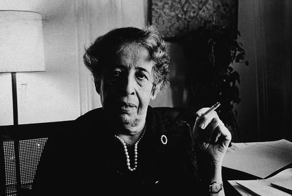Hannah Arendt in her Manhattan apartment, 1972; Credit Tyrone Dukes, The New York Times