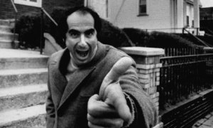 "photograph of Philip Roth in 1968; Bob Peterson/Time Life Pictures. Image appeared in ""Portnoy's Complaint – still shocking at 40,"" an article in The Guardian ""Books blog"" by Chris Cox, posted September 7, 2009"