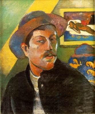 Gauguin self-portrait, 1893-1894