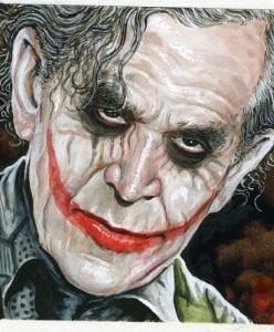 George Bush as The Joker, caricature