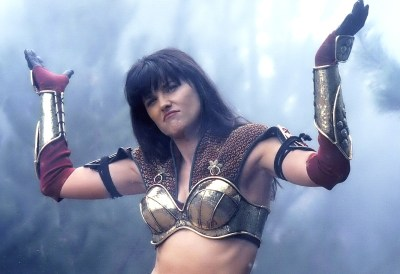 Lucy Lawless Xena Hands Up
