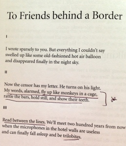 To Friends behind a Border Lit Literature
