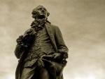Goethe statue leipzig phtoshopped