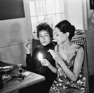 Bob Dylan and Sally Grossman, Woodstock, 1964