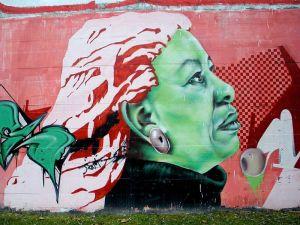 Toni Morrison, Wall Mural