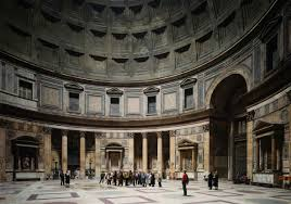 "Photograph by Thomas Struth: Pantheon, Rome 1990, chromographic print, 93 ¾ x 72 ¼"" (collection of The Metropolitan)"