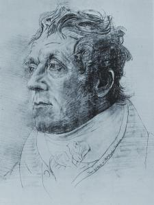 "Cornelius Varley, J.M.W. Turner, c. 1815, pencil drawing, 19 1/2 x 14 1/2"", Museums Sheffield"
