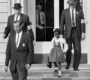 rubybridges - young black girl going to school