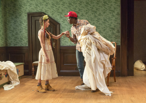 "mani Jade Powers and James Udom in Shakespeare's ""A Winter's Tale,"" Pearl Theatre, New York, 2015"