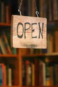 Open book shop