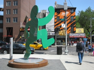 Keith Haring, Self-Portrait, 1989; photographed near Astor Place, New York, 2015