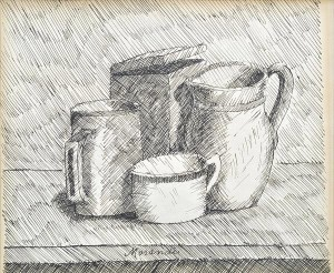 morandi etching four objects