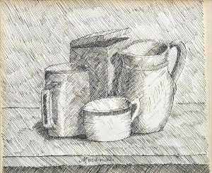 Morandi etching still life