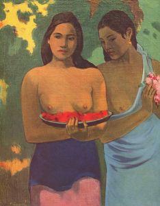 Gauguin Les seins aux fleurs rouges