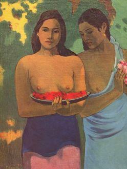Gauguin, Les seins aux fleurs rouges