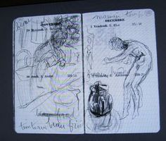 Bonnard diary sketches