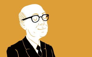 Philip Larkin - illustration by Iain Burke (New York Times review)