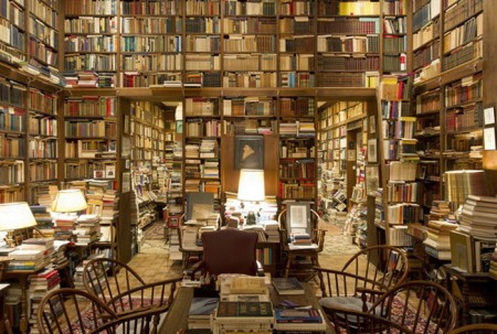 Johns Hopkins professor Richard Macksey's library, said to contain more than 70,000 books.
