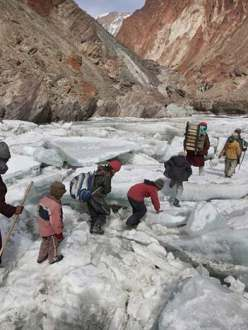Kids Traveling To A Boarding School Through The Himalayas, Zanskar, Indian Himalayas; photo by Timonthy Allen