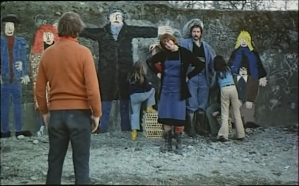 Still from Alain Tanner and John Berger's 1976 film Jonas qui aura 25 ans en l'an 2000 (For Jonas Who Will Be 25 In The Year 2000) - art wall