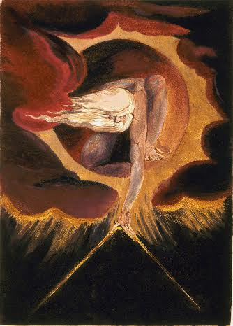"William Blake frontispieces for 1794 ""Europe a Prophecy"". Title of frontispeice: The Ancient of Days"