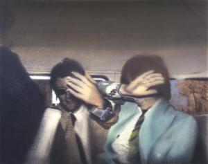 Swingeing London 67 (f) 1968-9 Richard Hamilton. Collection of the Tate in London. Based on photograph showing Mick Jagger handcuffed to the art dealer Robert Fraser.