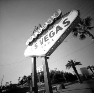 Las Vegas sign vintage style