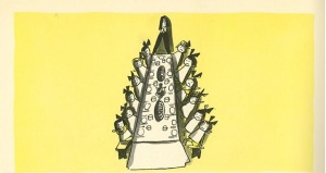 Madeline, Ludwig Bemelmans, drawing with mistake (extra girl); caption omitted