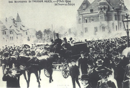 Theodor Herzl's funeral photograph