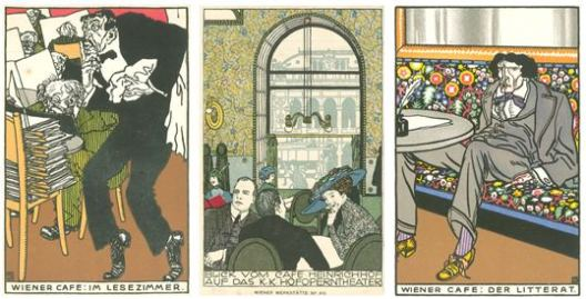 Moriz Jung, The Vienna Secession, triptych