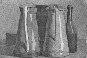Morandi etching pitchers