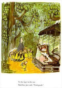 Madeline, Ludwig Bemelmans, with tiger