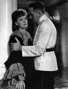 Greta Garbo with Fredric March in Anna Karenina, directed by Clarence Brown,1935