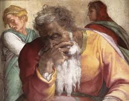 Michelangelo's Jeremiah is a fresco from the Sistine Chapel