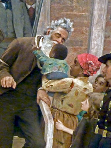 "Portion of Thomas Hovenden's ""The Last Moments of John Brown,"" 1882-84; now housed in The Metropolitan Museum of Art"