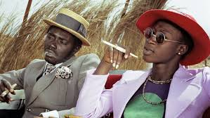 Magaye Niang and Mareme Niang in Touki Bouki (Wolof for The Journey of the Hyena or The Hyena's Journey), a 1973 Senegalese film, directed by Djibril Diop Mambéty