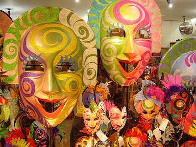 masks from Masskara Festival, Philippines, Bacoclod City ('City of Smiles')