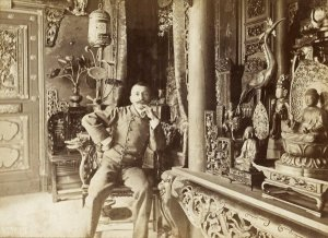 fig. 12 Loti in his Japanese pagoda