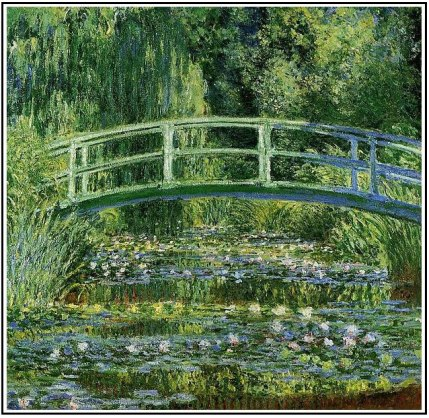 fig. 5 Monet: Water Lilies and Japanese Bridge