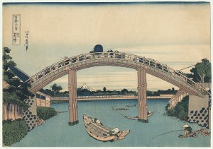 fig. 4 Hokusai: Under the Mannen Bridge