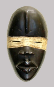 Black & Red Man puppet made by the Bamana tribal people of Mali, Africa
