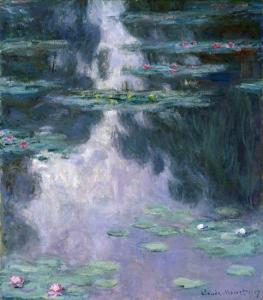 fig. 8 Monet: Water Lilies 1907 (Houston Museum of Fine Arts)