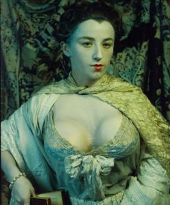 "Cindy Sherman as Madame de Pompadour (née Poisson), from ""History Portraits"" (1989–1990); exhibited at Skarstedt Gallery, New York City, 2008"