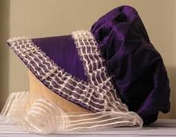 purple Regency bonnet
