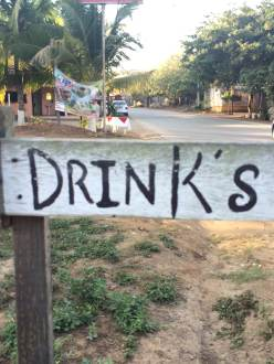 Drink's, sign in Troncones, Mexico; photo credit: Jonah Warner, February 2016