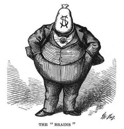 Thomas Nast cartoon, The Brains, Harper's Weekly, October 12, 1871