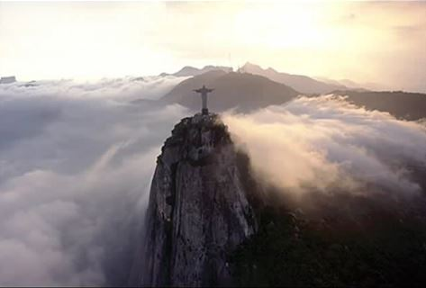 Corcovado in mist